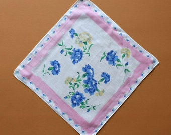 Vintage Handkerchief with Floral Design