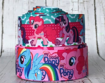 "1"" Pony Horse Animal Movie TV Cartoon Grosgrain Hairbow Ribbon - Sold in 5 Yards"