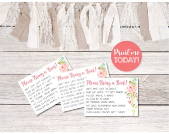 Book in Lieu of Card Insert   Book Instead of Card   Baby Shower Invitation   Baby Shower Bundle   INSTANT DOWNLOAD   Printable   #100