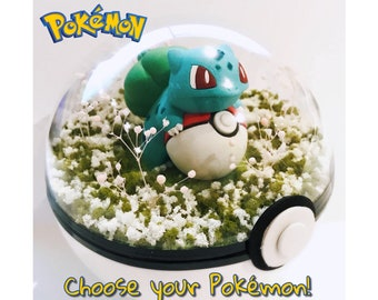 Pokemon Terrarium Birthday & Christmas Gift for Him / Her! CHOOSE ANY POKEMON - 100mm