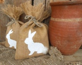 Easter Bunny Gift Bag Easter Treat Bag Easter Decor Easter Basket Easter Gift Bag Burlap Gift Bag Rustic Gift Bag Party Favor Bags Spring