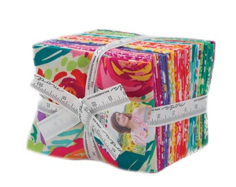 Painted Garden Fat Quarter Bundle by Crystal Manning for Moda Fabrics, 28 Fat Quarters, Full Collection, 11810AB Moda Precuts