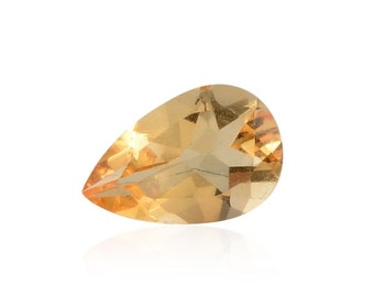 Brazilian Citrine Pear Cut Loose Gemstone 12x8mm TGW 2.11 cts.