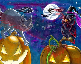 Inktober 2017 - Halloween Night Print