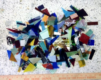 Stained glass scrap 10 lbs of glass for mosaics jewelry art glass projects box 3