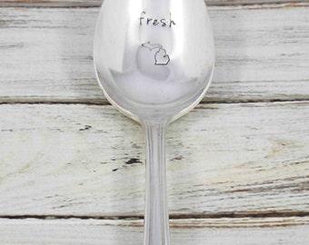 Michigan Spoon, Michigan Fresh, Great Lakes, Michigan, Michigan Gift, Eat Local, Michigan Grown, Stamped Spoon, State of Michigan, Spoon