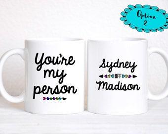 BFF Gifts / You're My Person Mug / BFF Mug / Best Friend / Best Friend Gift / Bestie Gift / Best Friend Birthday / Friend Gift / Friends Mug