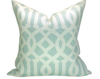 Imperial Trellis pillow cover in Mineral