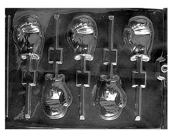Boxing Gloves Chocolate Sucker Mold, Candy Mold
