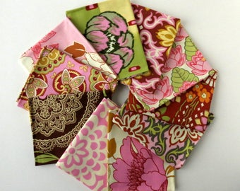 Amy Butler fat quarters, fabric destash, fat quarter bundle, Lotus collection, out of print fabric, Westminster fabric, set of 10 FQ