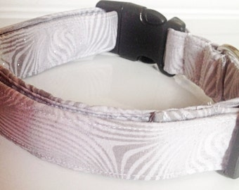 Gray Wedding Collar & Special Events Collar for Dogs and Cats