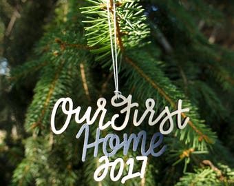 Our First Home 2017 Christmas Ornament - Choose your color! | Christmas Ornament | Housewarming Gift | Christmas Gift | Couple Gift