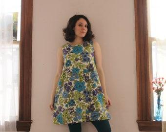 Floral 60's Spring Tent Dress
