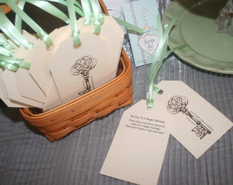 Advice for Bride and Groom, Wish Tree Tags, Wedding, wedding wish tags, Key to a Happy Marriage, Wedding Advice, Alternative Guest Book