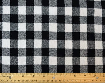 Cotton Flannel Plaid 23 Tartan Fabric by the Yard