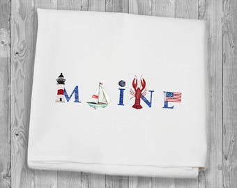 Maine Summer Flour Sack Towels for kitchen and bar
