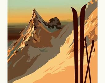 Pinnacle Ridge VIntage Style Poster