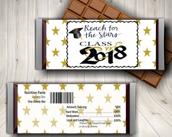 2018 Graduation, Graduation, Candy Bar Wrapper, Graduation Tags, Happy Graduation, Senior Graduation, Graduation Labels, Graduation Favors
