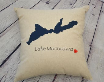 Custom Pillow - Custom Lake pillow - 18 x 18 cover only - Personalized Gifts for Mom - Gift for Her - Beach House - Mother's Day