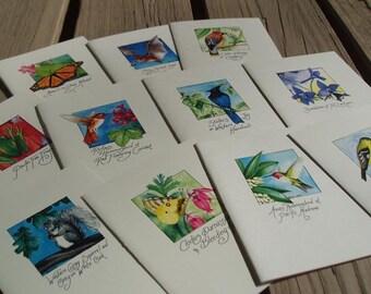 Western Species set of 12 blank cards