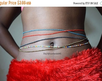 ON SALE BELLY Beads, Belly Chains, Waist Beads, African Waist Beads, African Jewelry, African Clothing For Women, Cute Belly Chains, African