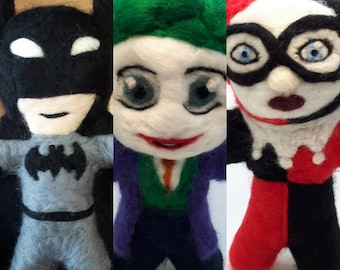 Felted DC characters