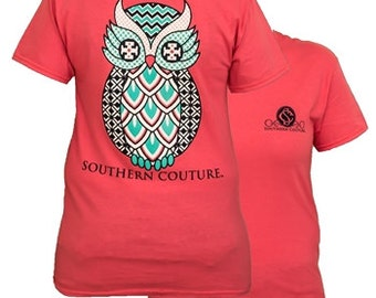 Southern Couture, Owl, Simply Southern Style womens