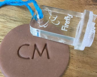 Larger Initial Stamp, 2cm, 2.5 cm, 3 cm Makers Mark, Identify Your Work, Ceramics Tool, Pottery Tool