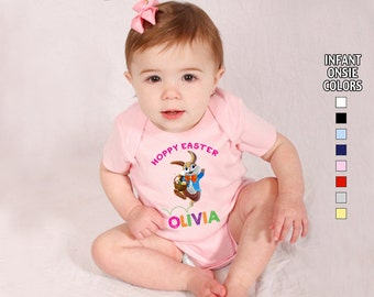 Hoppy Easter Bodysuit - Girls - Personalized with Name