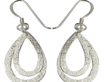 Silver earrings 925 Silver earrings ladies jewelry drops into each other (art. Nr. OS-39)
