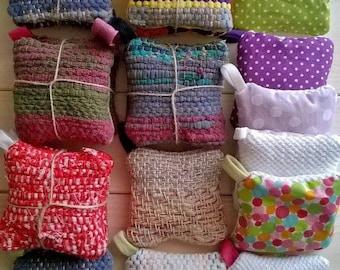 ECO_ il cuscino profumato alla lavanda tessuto a telaio manuale, 8x8 cm