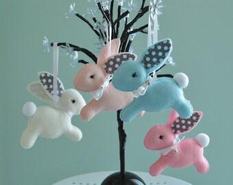 Baby Nursery Bunny/  Felt Bunny /  Bunny Nursery  Decoration / Made To Order