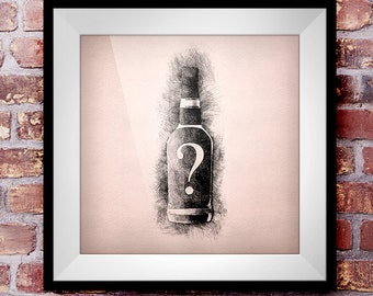 Commission Piece - Crosshatch Whisky Wall Art