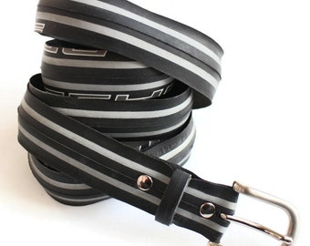 Bicycle/Tyre Belt/Tire Belt/Upcycled Recycled Belt/Handmade Belt/Vegan Belt/Grey Belt/Bike Accessories