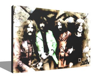 Black Sabbath 100% Cotton Canvas Print Using UV Archival Inks Stretched & Mounted