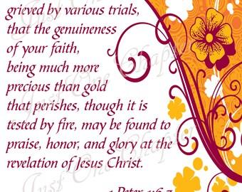 Scripture Artwork Square Get Through Trials