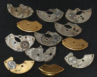 Destash Steampunk Watch Clock Parts Movements Plates Art Grab Bag RD 64