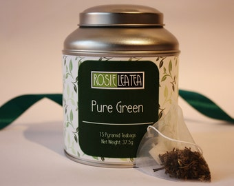 Pure Green Teabags - Yunnan Green Tea- Tea- Tea Gift - Teabags - Green Tea