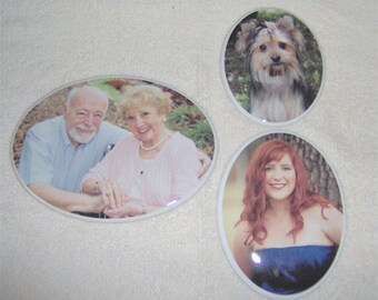 "2.35"" x 3.15""  Oval Porcelain-Ceramic-Photo-Picture for Memorial-Outdoors-Cemetery-Headstone"
