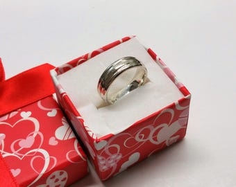 17 mm ring Silver 925 simple design SR922