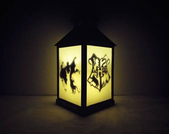 Harry potter lantern, night light, silhouette lantern