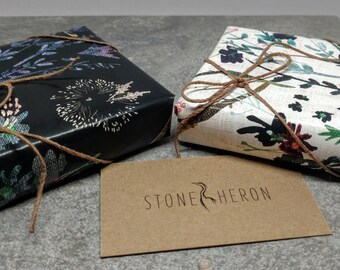 Gift Wrapping Service - Gift Wrap Add-On - Gifts - Mother's Day Gifts - Eco Friendly Wrapping Paper - Floral Gift Wrap - Mountains Gift Wrap