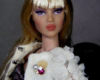 Jewelry for Fashion royalty, Poppy Parker, Barbie - brooch - magnetic closure