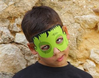 FRANKENSTEIN Paper Mask - Kids Halloween Costume - Printable Mask