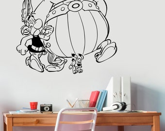 Asterix and Obelix Wall Decal Vinyl Sticker French Comics Movie Art Decorations for Home Housewares Kids Room Bedroom Nursery Decor aab2