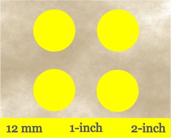 Printable yellow bottle cap imagesplain collage sheet12 mm1 inch2 inch labelsplain yellow circlesround yellow stickersdiy jewelry from marieshelita1