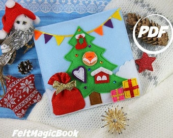 Christmas Tree | Pattern  | PDF | Quiet Book | Felt Busy Book | Toddler book | Activity Book | Fabric quiet book