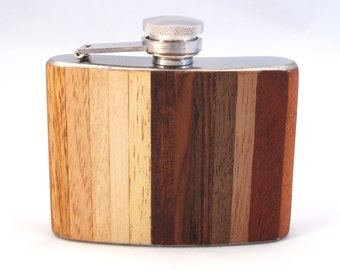 4oz Exotic Ombre Wood Flask Limited Edition
