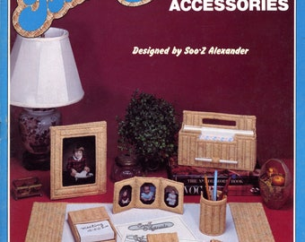 Needlepoint Basketry - Desk Accessories by Soo-Z Alexander | Craft Book