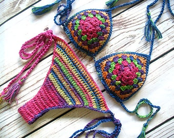 Crochet bikini, Crochet swimwear, Crochet bathing suit, Crochet bikini set, Crochet bikini top, Crochet swimsuit, Crotchet bikini, Cheeky